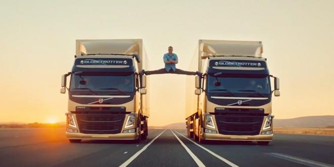 Jean Claude Van Damme – rozstep na zrcatkach kamionu Volvo
