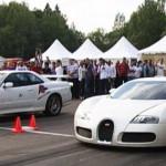 Nejrychlejší auto na světě Bugatti Veyron prohrálo závod na 1/4 míle s Nissanem Skyline GTR R34!