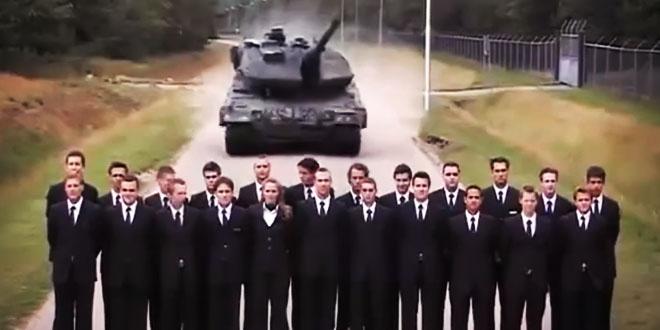Tank testuje brzdy