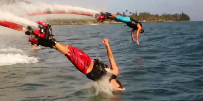 Water Jet Pack v akci