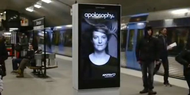 Reklama metro vlasy