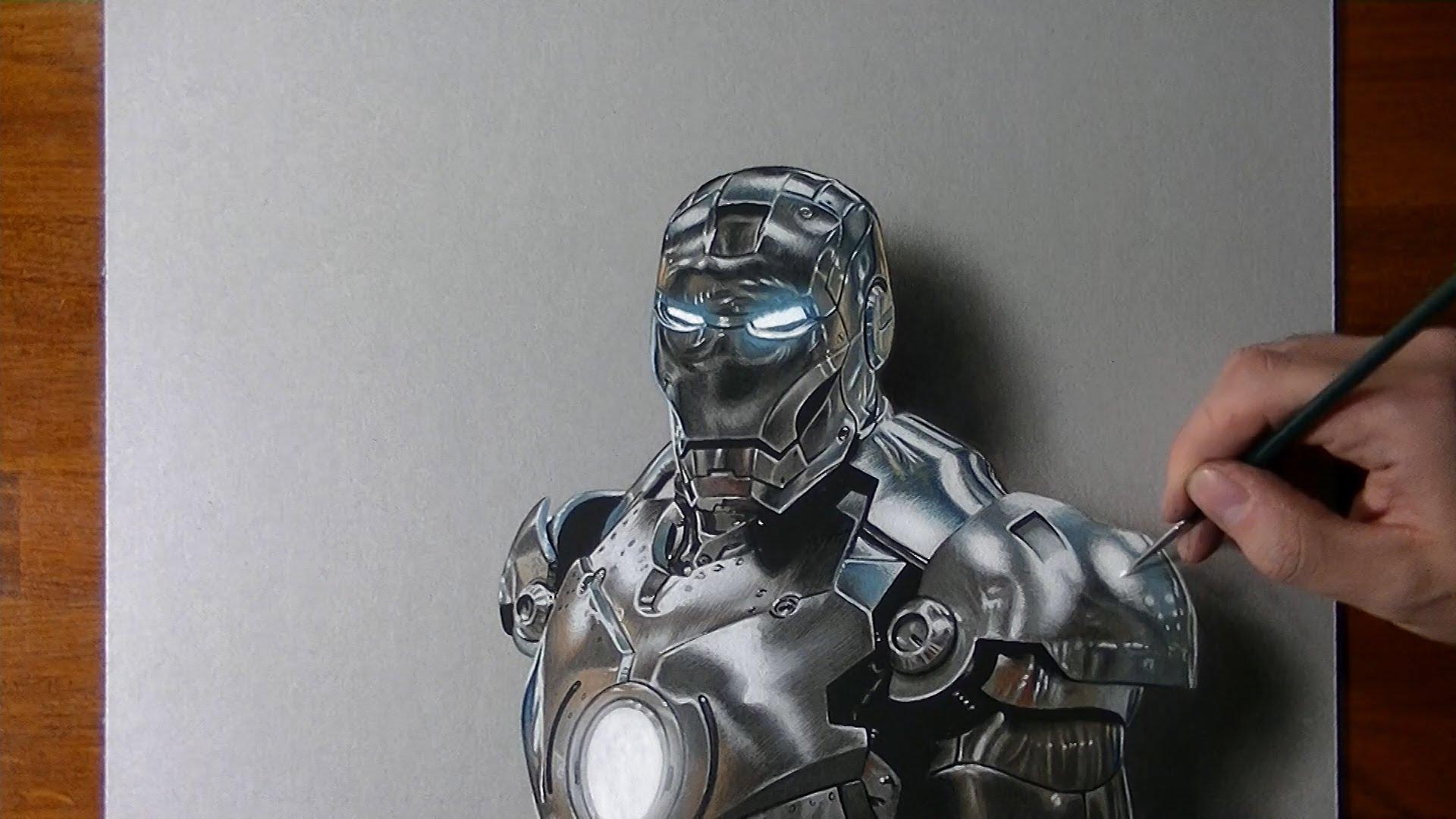 Hyperrealistická kresba Iron Mana!