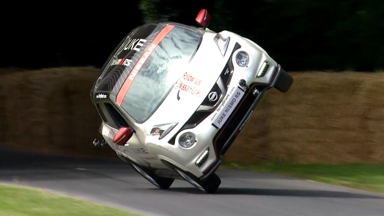 Světový rekord – nejrychlejší jízda autem pouze na dvou kolech