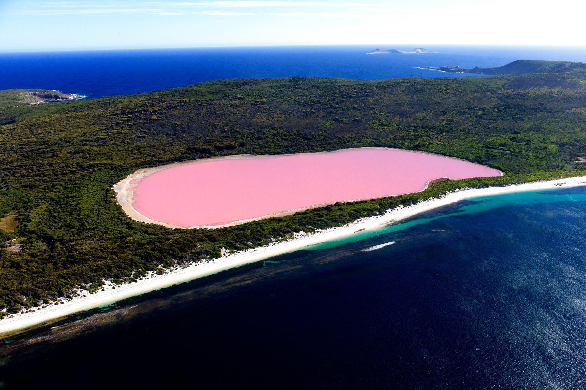 Záhadné růžové jezero