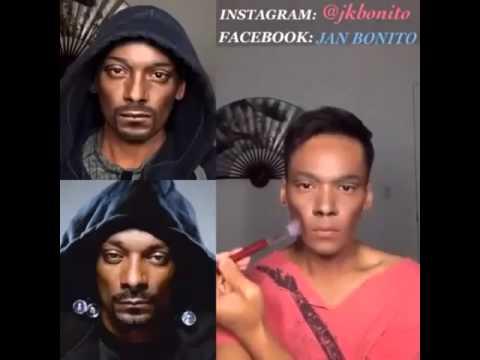 Snoop Dogg? Ne! To je MISTR makeupu, který zvládne být díky líčidlům věrohodnou kopií celebrit!