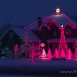 Inspirace na vánoční ozdobení domu svetýlky