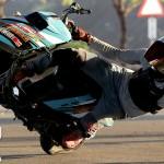 Úžasná freestyle jízda na skútru